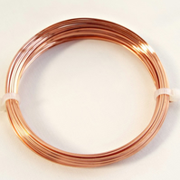 Coil of Square Copper Wire 0.8mm - 20 Gauge - 6 Metres