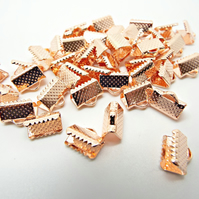 Rose Gold Ribbon Ends - 10mm - Pack of 50