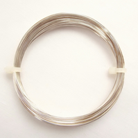 Coil of 0.4mm Silver Plated Tarnish Resistant Wire - 26 Gauge - 20 Metres