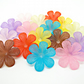 10 Large Frosted Acrylic Flower Beads - 33mm Mixed Colour Flowers