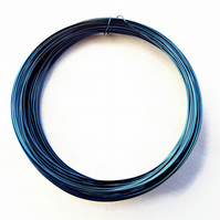 Coil of Dark Blue 0.5mm Copper Wire - 15 Metres Jewellery Making & Craft Wire