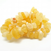 Yellow Calcite Extra Large Nuggets - 15 Inch Strand - Approx. 13-21mm