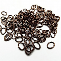 200 Oval Copper Jump Rings - 5x7mm