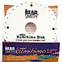 Mini Kumihimo Braiding Disk - 4.5in Braiding Tool - Braiding Supply