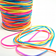 1.5mm Rainbow Jewellery Cord - 1.5mm - Ombre Rainbow Colours