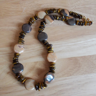 Jasper and tiger's eye necklace
