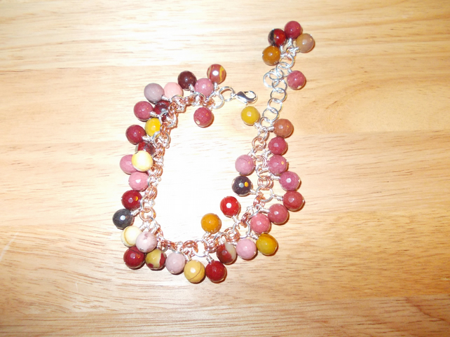 Autumn berry chainmaille charm bracelet
