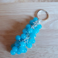 Aqua quartzite bag charm
