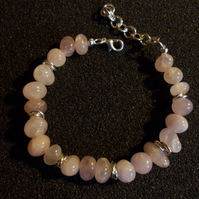 Rose quartz nugget bracelet