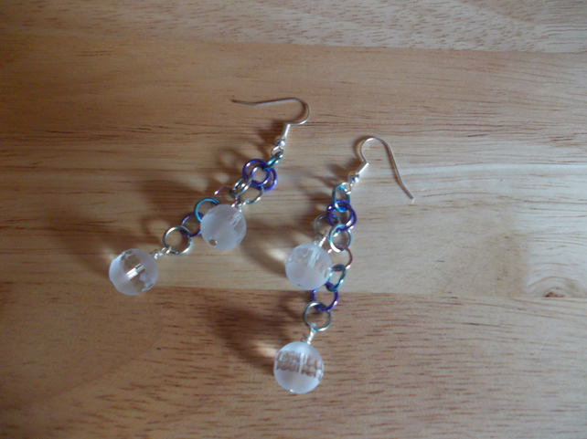 Drop quartz earrings