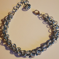 Two tone chainmaille bracelet