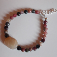 Tourmaline and Moonstone bracelet