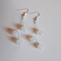 White quartz twig earrings