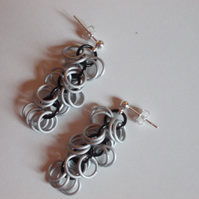 Monochrome drop earrings