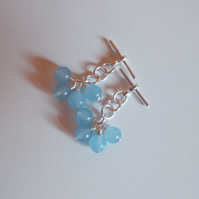 Light blue quartz cufflinks