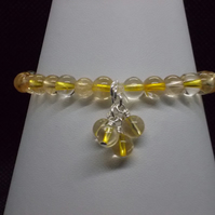 Citrine elasticated bracelet