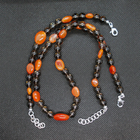 Carnelian and Smokey Quartz set