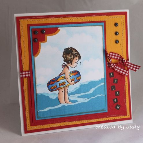 SPLASH! OOAK Handmade Greeting Card