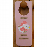 'Shhh birdie sleeping'  Door Hanger