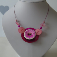 Button Necklace - Button Jewellery
