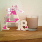 15cm Freestanding Wooden Letter with Age