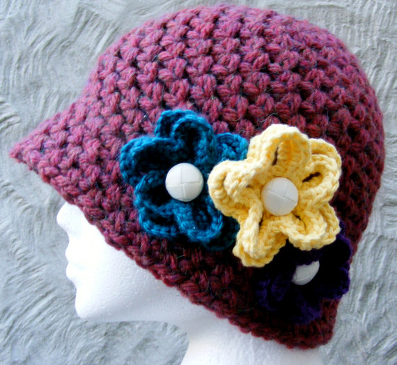 Ladies Hat Crochet PATTERN - Very Easy - Elegan... - Folksy