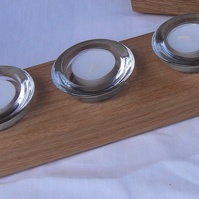 Oak candle holders - 3 candles