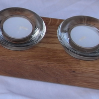 Oak candle holders - 2 candles