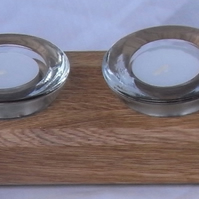 Oak candle holder - 4 candles