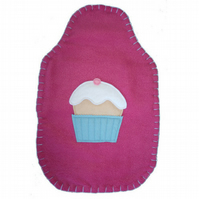 Fairy cake hot water bottle cover