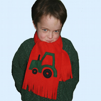 Tractor scarf - red