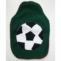 Football hot water bottle cover for Mandy Yates