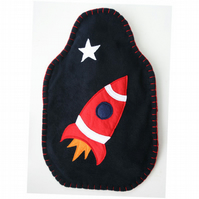 Rocket hot water bottle cover