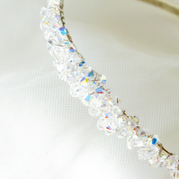 Brides Vintage Handmade Swarovski Crystal Hair Accessory - Hair Ornament