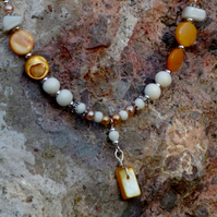 Hand-crafted Shell necklace, wearable sunshine!