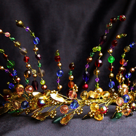 Fairytale Tiara, Wedding, colours, bride, fairytale, gold,