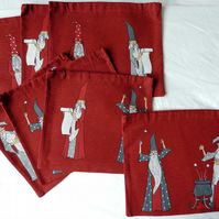 Boy's or Girl's Wizard Shoe Bag in Red and Grey