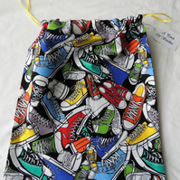 """Trainers"" Draw String Shoe Bag"