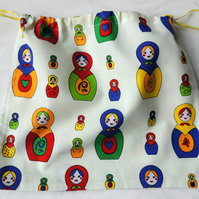 Matryoshka Drawstring Bag