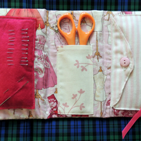Pink Compact Sewing Kit