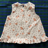 Girl's Sleeveless Top in Peachy Pink Age approx 4-5 years