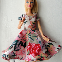 "Summer Dress for Barbie Doll or similar 12"" doll"