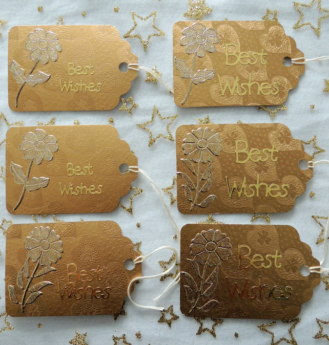Gold Metallic Card Gift Tags