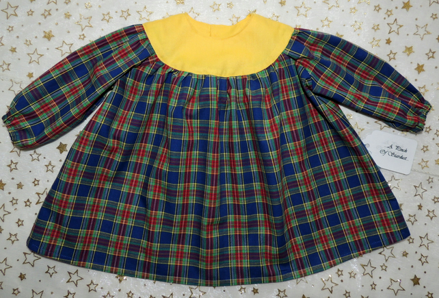 Baby Girl's Long Sleeved Tartan Dress 3-6 Months