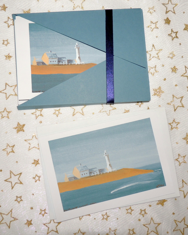 """Scituate Lighthouse"" Blank Note Card - Pack of 6 Notelets"