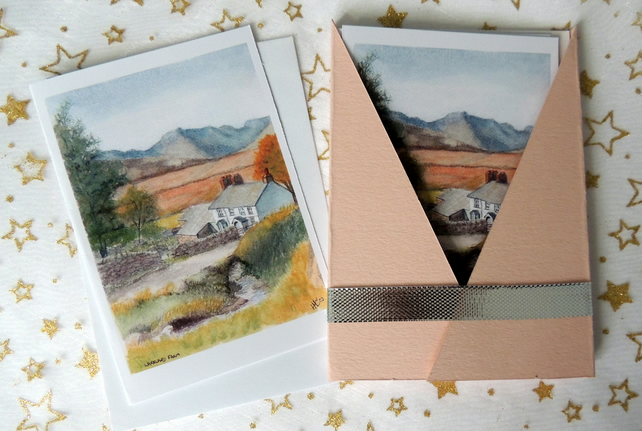 """Lakeland Farm"" Blank Note Card - Pack of 6 Notelets"