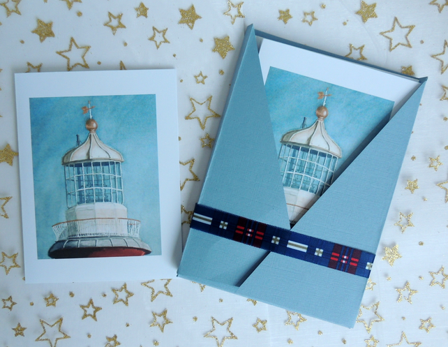 "Art Card - ""Smeaton's Tower Lighthouse "" Note Cards (Pack of 6)"