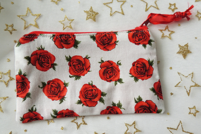 Red Rose Coin Purse