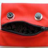 "Orange ""Little Monster"" Coin or Change Purse for your Little Monster"