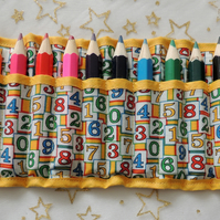 Child's 13 Piece Crayon Pencil Roll